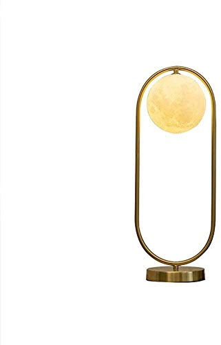 Rnwen Lámpara de Mesa de Cristal cálida Simple y Creativa lámpara de mesita de Noche para Dormitorio 21 * 54,5 cm