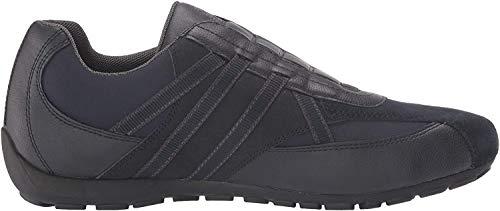 Geox Herren Slip-On Sneaker RAVEX, Männer Sneaker,Halbschuh,Sportschuh,Slipper,Gummizug,atmungsaktiv,BLAU,44 EU / 10 UK