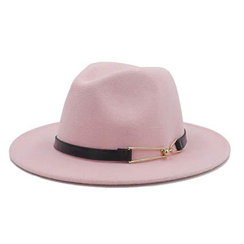 LQ-BNM Panama-hoed – Fedora van wol, jazz-pet voor de winter, voor mannen en vrouwen, casual jazzhoed met brede rand maat 56 – 58 cm