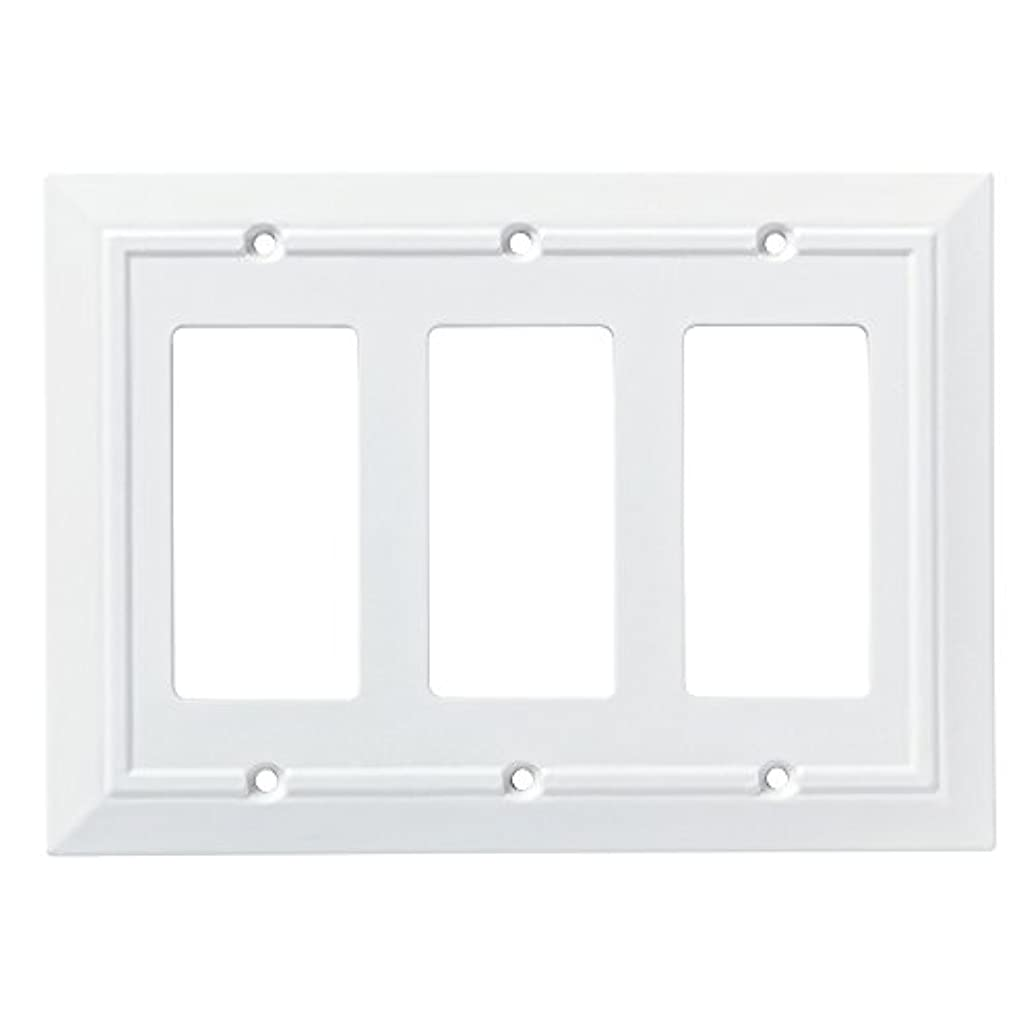 Franklin Brass W35250-PW-C Classic Architecture Triple Decorator Wall Plate/Switch Plate/Cover, White