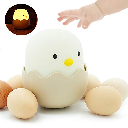 Night Light for Kids, LED Soft Light for Nursery Bed, Smart Touch Controls Cute Chick Nightlight for Baby Nursing, USB Rechargeable, Brightness Adjustable, Best Gifts for Teen Girls Baby