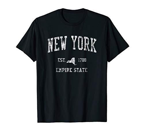 New York T-Shirt Vintage Sports Design New Yorker NY Tee
