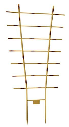 Novatool Pflanzengitter Bambus I 77 x 36 cm I Kunststoff I Braun I Blumengitter Blumenkasten Rankgitter Balkon Rankhilfe Gitterspalier Spailer