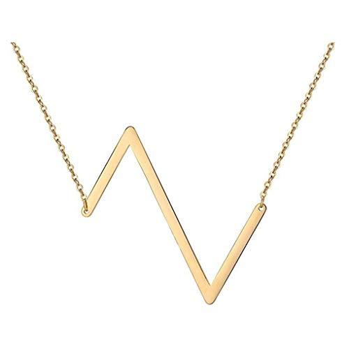 Dorical Buchstabe Halsketten,A-Z Halskette, Personalisierte Gold Herz Anhänger Buchstabe Kette Alphabet,Anhänger Halsketten Frauen Mädchen Kindergeschenke Sonderverkauf(01-Z,One Size)