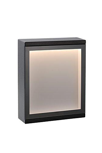Lucide CADRA - Applique Murale Extérieur - LED - 1x6W 3000K - IP54 - Noir