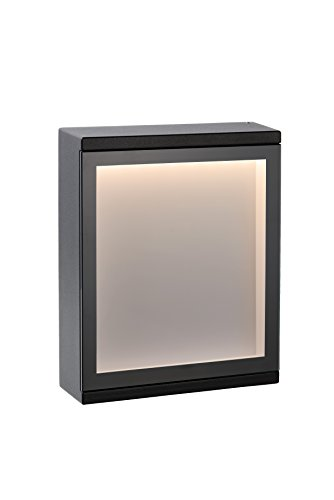 Lucide CADRA - wandlamp buiten - LED - 1x6W 3000K - IP54 - zwart
