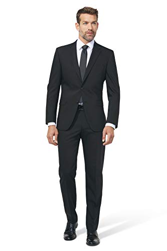 DIGEL Modern Fit Hose PER-V mit Bügelfalte schwarz Größe 50