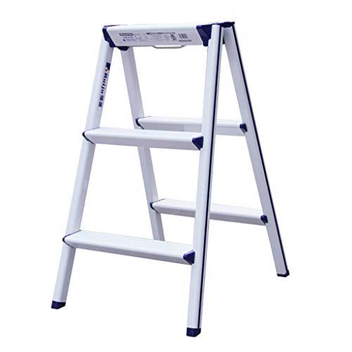 MKJYDM Escalera Plegable Plegable de Aluminio for el hogar Taburete de Almacenamiento de diseño Original de Espiga multifunción Taburete