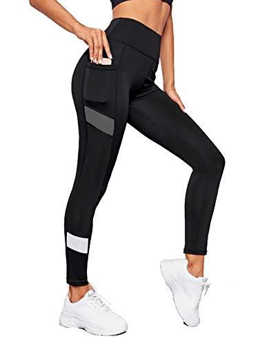 Neu Look Women's Solid Color Block Regular Fit Gym Tights...