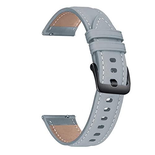 Correa de cuero para Xiaomi Huami Amazfit GTR 47mm / gtr 2 2e / Stratos 3 2 2S Pulsera 22mm Sport Wristband-Grey 1