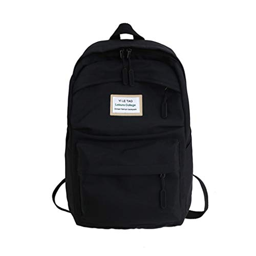 Shoulder Tote, Tangpingsi Women Girl Canvas Backpack Large Capacity Bookbag Laptop Daypack Travel Casual School Bag