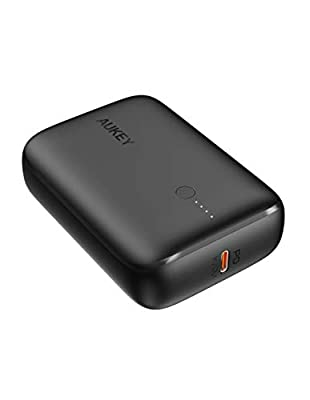 AUKEY Power Bank Portable Charger 10000mAh, Ultra Compact battery pack with 18W Power Delivery and USB-C Quick Charger 3.0 Fast Phone Charger for iPhone 12/mini/Pro/11/11 Pro, iPad, Samsung, Huawei