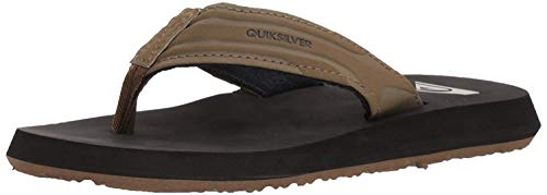 Quiksilver Boys' Monkey Wrench Youth Sandal, TAN - SOLID, 6(39) M US Big Kid