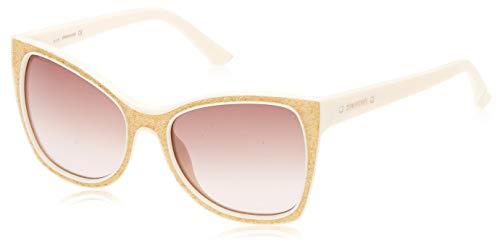 Swarovski Sunglasses Sk0109 21F 56 Occhiali da Sole, Beige, Donna