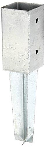GAH-Alberts 211851 Bodenhülse für Vierkantholzpfosten - feuerverzinkt, 71 x 71 mm