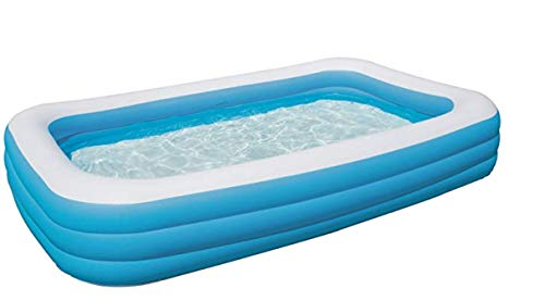 Bestway H2OGO! 10' x 6' x 22' Deluxe Blue Rectangular Family Pool