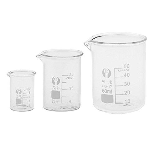 sgerste 10ml 25ml 50ml Glas transparent Becher Borosilikat Messung Becherglas Glaswaren Schule Chemie Labor Studie Supplies