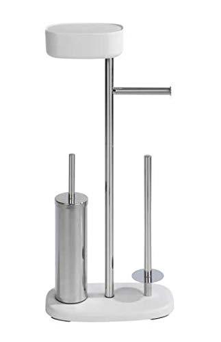 WENKO Stand Toilettenbürste mit Box Rivazza Weiß