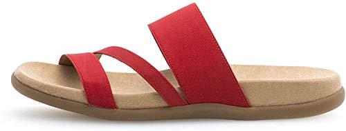 Gabor Damen ClogsPantoletten, Frauen Clogs,Best Fitting,Übergrößen, Hausschuh Pantoffel Slipper Damen Frauen weibliche Lady,Flame,41 EU / 7.5 UK