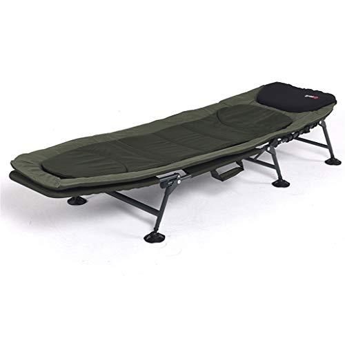 Klapp- und Liegestuhl Gästebett |Verstellbare Rückenlehne Liege, Angeln Camping Liege Schwerelosigkeit Lounge Chair, Kissen, für Büro oder Outdoor Yard Veranda
