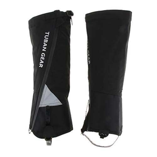 T TOOYFUL 2 Pairs Waterproof Shoes Covers, Reflective Snow Rain Boots Gaiters Leggings Replacement, Foldable Reusable for Women Men - Black M
