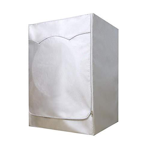 Chifans Lavatrice Copertura per Esterni Extra più Denso Tessuto Impermeabile Protezione Solare Isolamento Termico Anti-ultravioletti Tessuto Oxford, Argento