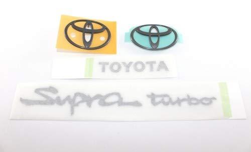 Toyota 1993 to 1998 Supra Turbo A80 Emblem Badge BLACK Decal OEM Set...