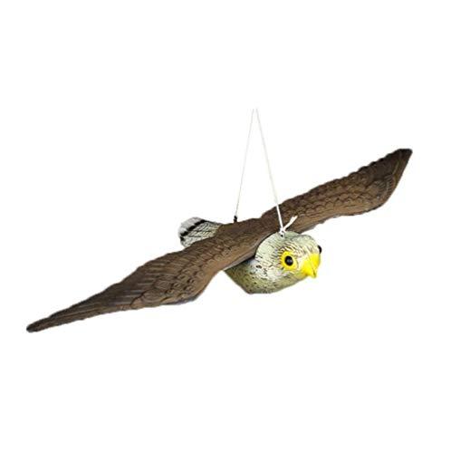 Fablcrew épouvantail à Oiseaux Réaliste avec Cordes à Suspendre, Volant Faucon Anti-Oiseaux Anti-parasites Outil d'effarer de Jardin