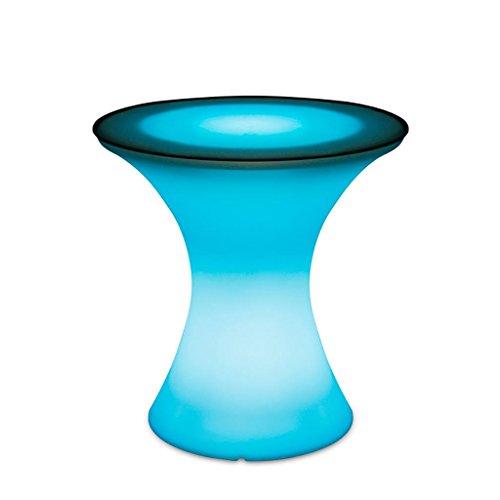 XINYE Table de bar LED 7 couleurs changeantes en plastique étanche pour fête avec télécommande