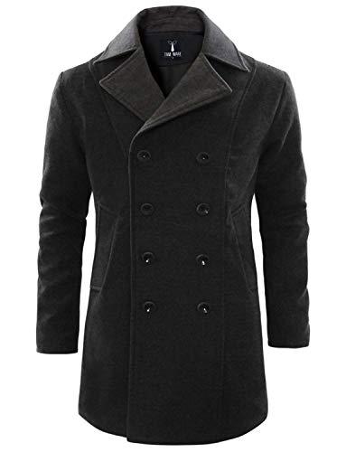 WULFUL Men's Suit Slim Fit One Button 3-Piece Suit Blazer Dress Business Wedding Party Jacket Vest & Pants Dark Grey