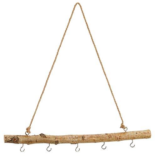 Birkenast mit Haken und Juteschnur zum Hängen 30 cm oder 50 cm - Naturdeko Dekozweig Dekoast Holzdeko Dekoholz Hängedeko Holzmobile Größe 50 cm