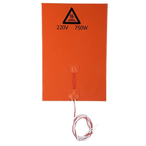 SUCIE Cama Caliente, Cama calentada, Alta Temperatura para Impresora 3D de Transferencia de Calor Uniforme(220v 750w, 200 * 300mm)