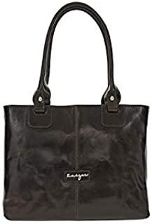Kaizer KZ1801DB Absolute Tote Bag for Women - Leather, Dark Brown
