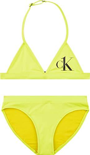 Calvin Klein Triangle Bikini Set Salida de Bao, Verde Directo, 12-14 Jahre para Niñas