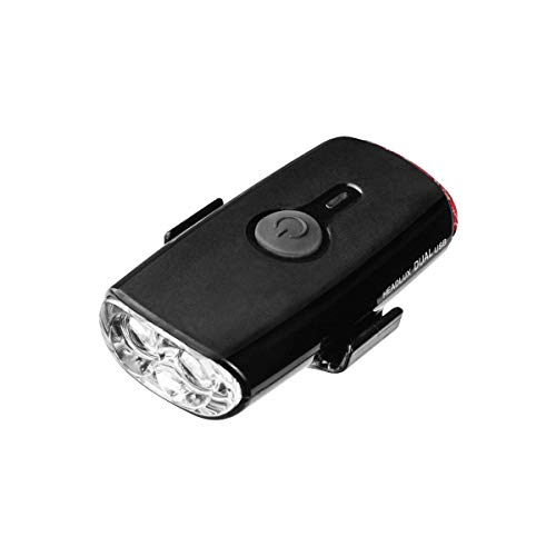 Topeak HeadLux Dual Head and Tail Light Black, One Size