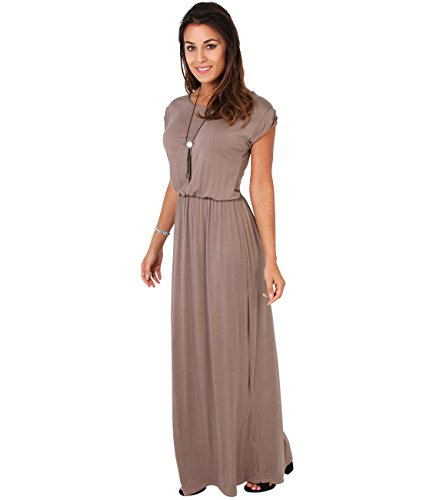 KRISP 3269-MOC-20 Damen Leichtes Kleid (Mokka, Gr.48)
