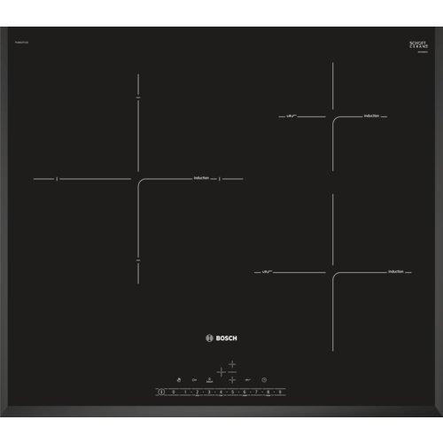 Bosch PIJ651FC1E Serie I 6 - Placa de inducción de 60 cm de ancho, terminación biselada, 3 zonas de cocción, control táctil, color negro