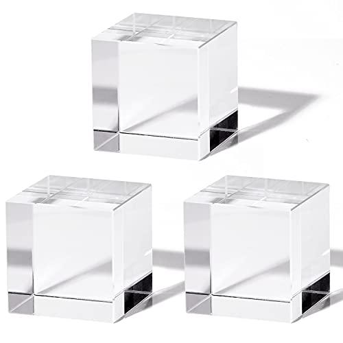 アクリル キューブ アクリル ブロック 【3個セット/サイズをお選びいただけます】 正方形 立方体 「 ディスプレイ スタンド 展示台 としてお使いいただけます」【Sim's】 (4cm)