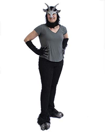 Zagone Studios Faun Satyr Kostüm-Set, Schwarz, Größe S