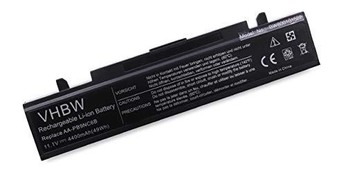 vhbw Li Ion Akku 4400mAh 111V schwarz fur Notebook Laptop Samsung NP R519 NP R530 NP R540 NP RF510 wie AA PB9NC6B AA PB9NC6W