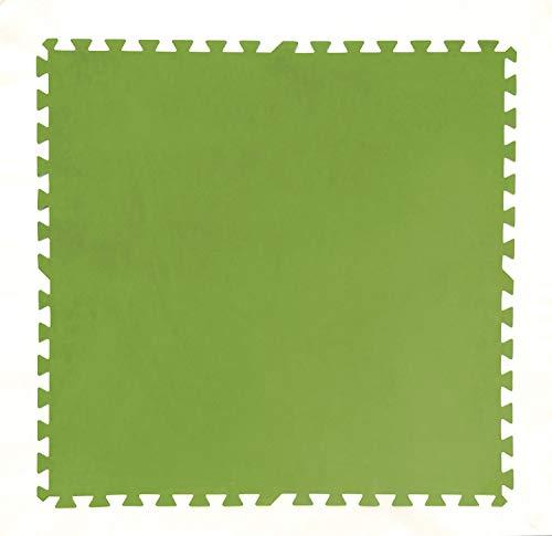 PEBSHOP Baldosa para Piscina de Polietileno Verde CF. 8 Unidades. L 81 x 81 cm.