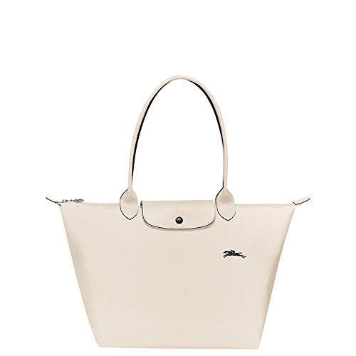 Longchamp 'Large 'Le Pliage Club' Nylon Tote Shoulder Bag, Chalk