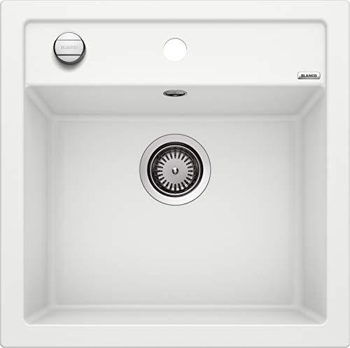 BLANCO DALAGO 5 – Spülbecken in modernem Design für 50 cm breite Unterschränke – aus SILGRANIT in Stein-Haptik – weiß – 518524