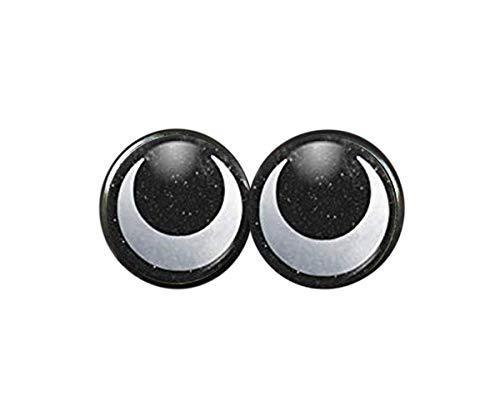 no see long time Pendientes de Tuerca de Plata Eclipse Moon, diseño de Fases de la Luna, Pendientes de Luna, joyería de Luna,