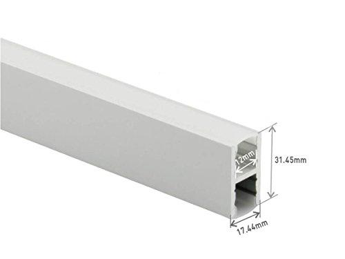 Profiellijst aluminium dubbele verlichting aan 2 zijden. Voor het personaliseren van de led-plafondlamp met ophanging 1 meter.