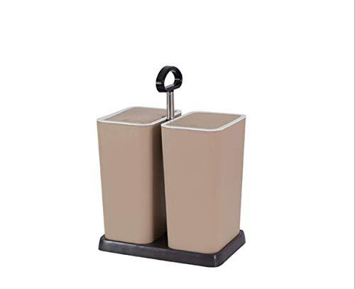 Dos Cubos de Basura con plástico seco y húmedo, Salón de Estar, Cocina Doble Tapa Cubo