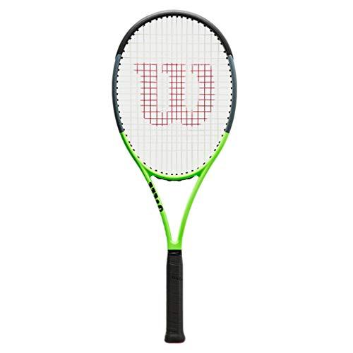 Raquetas De Tenis Profesional con Agujero Independiente Nueva Tenis para Adultos Calidad De Material De Carbono Completo (Color : Photo Color, Size : 27inches)