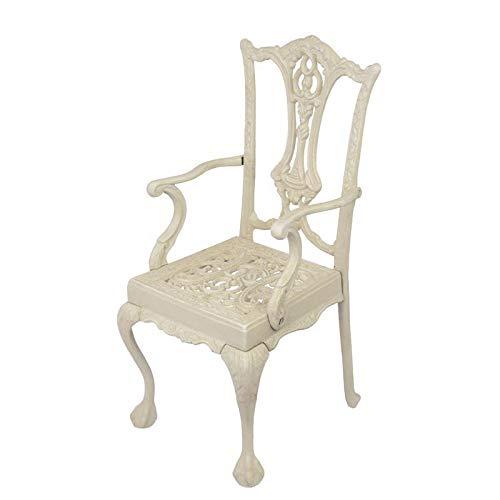 Moritz gietijzeren poppen stoel miniatuur stoel kinderstoel stoel antieke stijl wit 44 x 22,5 x 20,5 cm