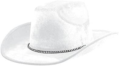 Amscan Velour Cowboy Hat, Party Accessory, White