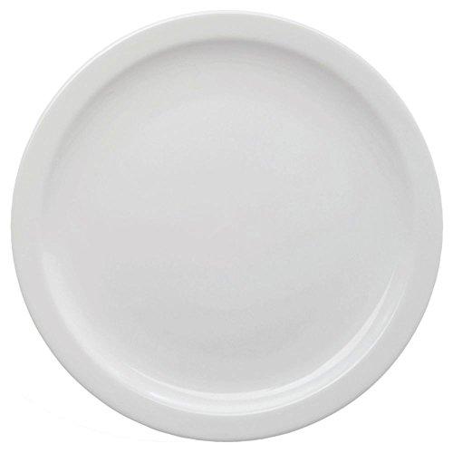 Hubert Narrow-Rim Bright White Stoneware Bread and Butter Plate - 5 1/2' Dia